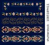 oriental pattern border set....   Shutterstock .eps vector #1085189411