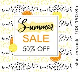 summer sale layout banner with... | Shutterstock .eps vector #1085190785