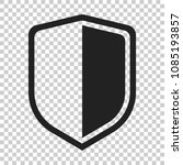 shield protect icon. vector... | Shutterstock .eps vector #1085193857