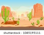 vector illustration of texas... | Shutterstock .eps vector #1085195111