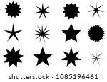 abstract sunburst vector badges ... | Shutterstock .eps vector #1085196461