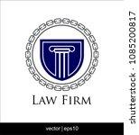 law firm logo vector   Shutterstock .eps vector #1085200817