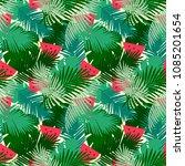 tropical  seamless pattern... | Shutterstock .eps vector #1085201654