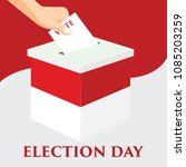 election day in indonesia with... | Shutterstock .eps vector #1085203259