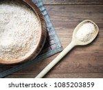 psyllium husk or isabgol on... | Shutterstock . vector #1085203859