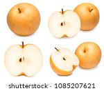 snow pear or fengsui pear on... | Shutterstock . vector #1085207621
