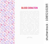 blood donation  charity  mutual ... | Shutterstock .eps vector #1085210285