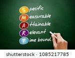 smart   specific  measurable ...   Shutterstock . vector #1085217785
