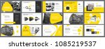 yellow and black logistics or... | Shutterstock .eps vector #1085219537