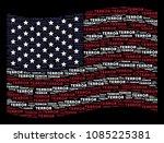 terror word items are arranged...   Shutterstock . vector #1085225381