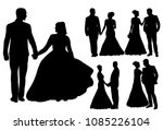 vector  isolated silhouette of... | Shutterstock .eps vector #1085226104