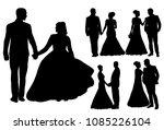 vector  isolated silhouette of... | Shutterstock .eps vector #1085226104