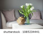 interior. room. a bouquet of... | Shutterstock . vector #1085234441