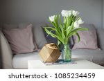 interior. room. a bouquet of... | Shutterstock . vector #1085234459