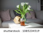 interior. room. a bouquet of... | Shutterstock . vector #1085234519