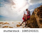 portrait of a maasai warrior in ... | Shutterstock . vector #1085243321