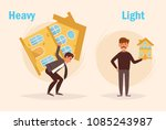 heavy light opposite antonyms...   Shutterstock .eps vector #1085243987