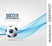 soccer tournament background...   Shutterstock .eps vector #1085245427
