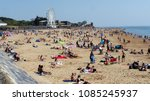 exmouth. a seaside town in... | Shutterstock . vector #1085245937