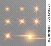 white glowing light burst... | Shutterstock .eps vector #1085246129