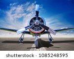sports plane on a runway | Shutterstock . vector #1085248595