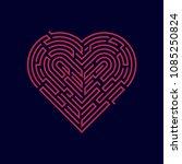 vector of heart shape combined...   Shutterstock .eps vector #1085250824