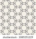 vector monochrome seamless... | Shutterstock .eps vector #1085251229