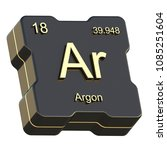 argon element symbol from... | Shutterstock . vector #1085251604
