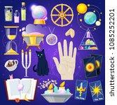 fortune telling vector fortune... | Shutterstock .eps vector #1085252201
