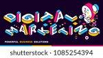 digital marketing color concept ... | Shutterstock .eps vector #1085254394