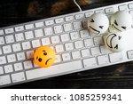 internet bullyingo or cyber... | Shutterstock . vector #1085259341