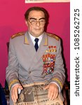 Small photo of KIEV, UKRAINE - MAY 7, 2018: Leonid Ilyich Brezhnev, a Soviet politician, the General Secretary of the Central Committee of the Communist Party of the Soviet Union , Wax mueum in Kiev.