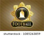 gold shiny badge with... | Shutterstock .eps vector #1085263859