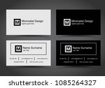 simple business cards template... | Shutterstock .eps vector #1085264327