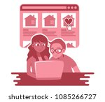 vector illustration of young... | Shutterstock .eps vector #1085266727
