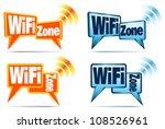 wifi zone icons   speech... | Shutterstock .eps vector #108526961