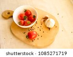fresh red tomatoes in white... | Shutterstock . vector #1085271719