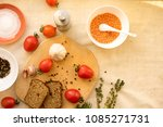 food ingredients and spices for ... | Shutterstock . vector #1085271731