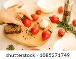 ketchup. tomato sauce salsa ... | Shutterstock . vector #1085271749