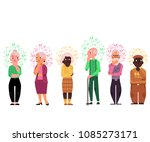 cartoon old people with... | Shutterstock .eps vector #1085273171