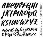 grunge distress font. modern... | Shutterstock .eps vector #1085274821