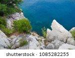 rocky seashore in croatia | Shutterstock . vector #1085282255
