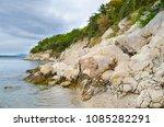 rocky seashore in croatia | Shutterstock . vector #1085282291