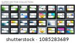abstract vector set of... | Shutterstock .eps vector #1085283689