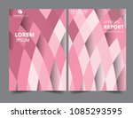 abstract geometric pink wave... | Shutterstock .eps vector #1085293595