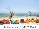 gili trawangan beach on a sunny ...   Shutterstock . vector #1085294594