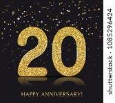 20 years happy anniversary... | Shutterstock .eps vector #1085296424
