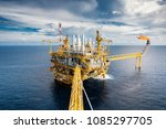 offshore oil and gas  platform... | Shutterstock . vector #1085297705