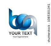 initial letter bq logo template ...   Shutterstock .eps vector #1085301341