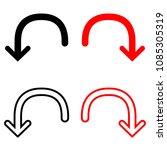 undo arrow icon  isolated on...   Shutterstock .eps vector #1085305319